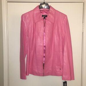 "Women's Flamingo ""Black River"" Leather Jacket"